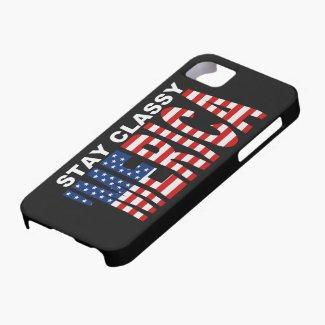 Stay Classy MERICA iPhone 5 Case