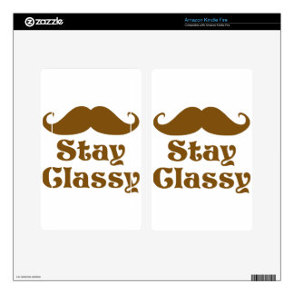 Stay Classy Mustache Kindle Fire Skins