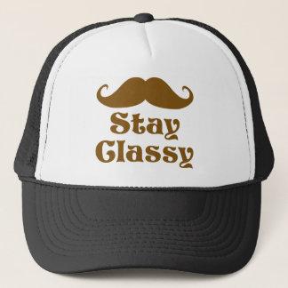 Stay Classy Mustache Trucker Hat