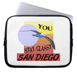 Stay Classy San Diego Laptop Sleeve