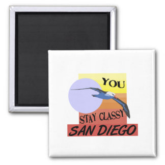 Stay Classy San Diego 2 Inch Square Magnet