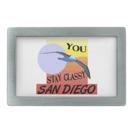 Stay Classy San Diego Rectangular Belt Buckle