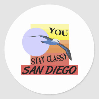 Stay Classy San Diego Classic Round Sticker