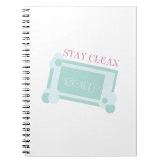 Stay Clean Spiral Notebook