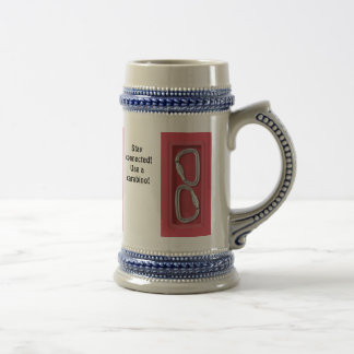 Stay connected! Use a carabino! 18 Oz Beer Stein