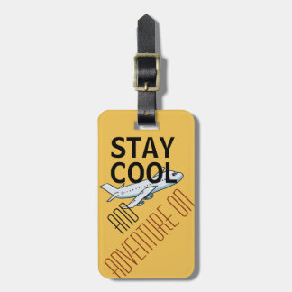 Stay cool and adventure on stylish luggage tag