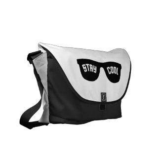 STAY COOL custom messenger bag