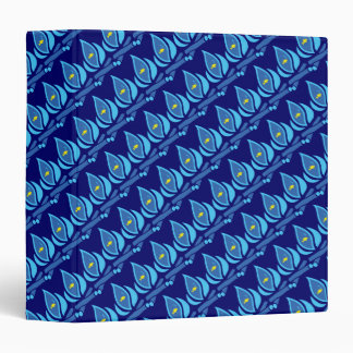 STAY COOL FISH Blue Pattern - Chill Summer Fry 3 Ring Binder