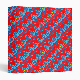 STAY COOL FISH Red Pattern - Chill Summer Fry Binder