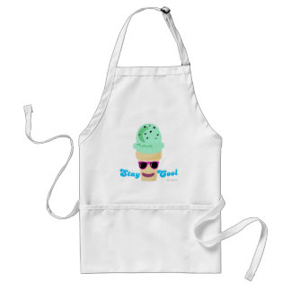 Stay Cool Ice Cream Adult Apron