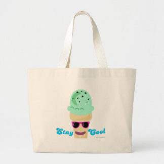 Stay Cool Ice Cream Large Tote Bag