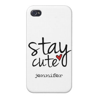 Stay Cute Case Savvy iPhone 4 Case