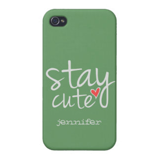 Stay Cute Case Savvy iPhone 4 Case, Gray
