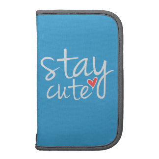 Stay Cute Folio Planner, Gray