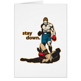 Stay Down Boxing Card