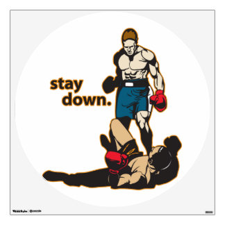 Stay Down Boxing Wall Sticker