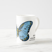 """Stay Elevated"" Blue Butterfly Mug"