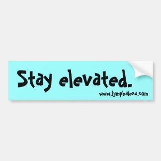 """Stay Elevated"" Bumper Sticker"