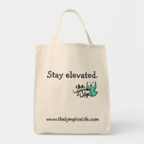 Stay Elevated Butterfly Grocery Tote