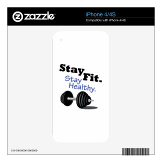 Stay Fit Decal For The iPhone 4S