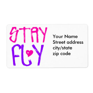 Stay Fly retro 90s slang Custom Shipping Label