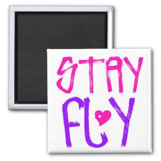 Stay Fly retro 90s slang Fridge Magnets