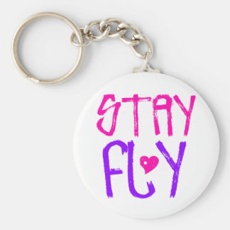 Stay Fly retro 90s slang Key Chains