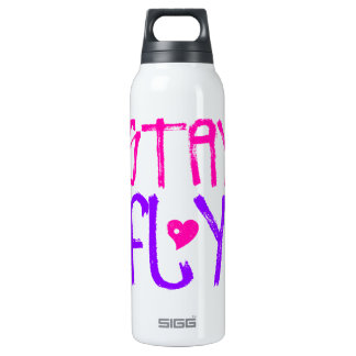 Stay Fly retro 90s slang 16 Oz Insulated SIGG Thermos Water Bottle