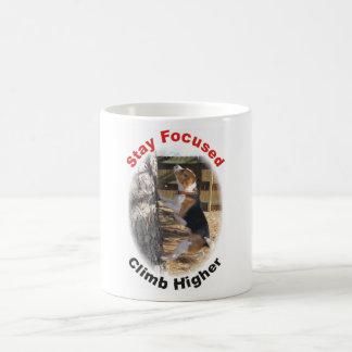 Stay Focused Climb Higher Beagle Mug