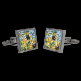 Stay Focused Daisies Custom Cufflinks