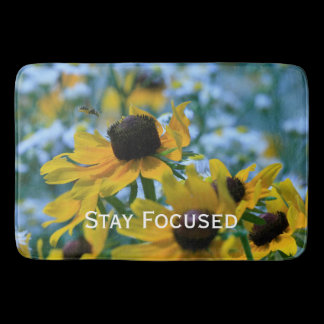 Stay Focused Daisies Custom Kitchen Mat /