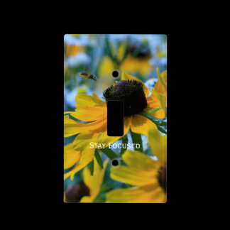 Stay Focused Daisies Custom Light Switch Cover