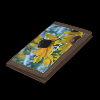 Stay Focused Daisies Custom Tri-fold Wallets