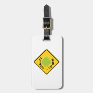 Stay Focused ... Keep Coding Bug Droid Sign Sides Tag For Luggage