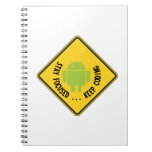 Stay Focused ... Keep Coding Bug Droid Sign Sides Note Book