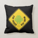 Stay Focused ... Keep Coding Bug Droid Sign Sides Pillows