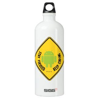Stay Focused ... Keep Coding Bug Droid Sign Sides SIGG Traveler 1.0L Water Bottle