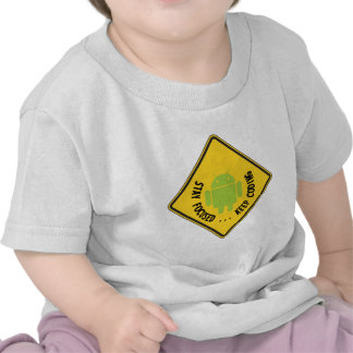 Stay Focused ... Keep Coding Bug Droid Sign T-shirt