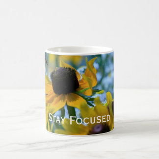Stay Focused Quote Daisies Coffee Mug