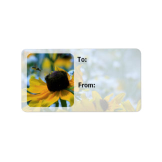 Stay Focused Quote Daisies Custom Gift Tags Sheet