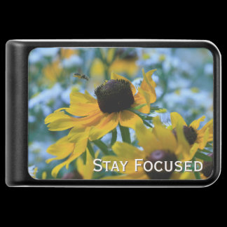 Stay Focused Quote Daisies Custom Power Bank