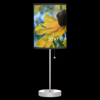 Stay Focused Quote Daisies Desk Lamp