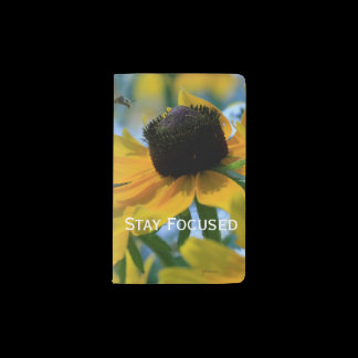 Stay Focused Quote Daisies Pocket Moleskine Notebook