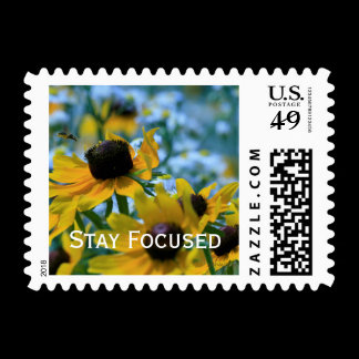 Stay Focused Quote Daisies Postage