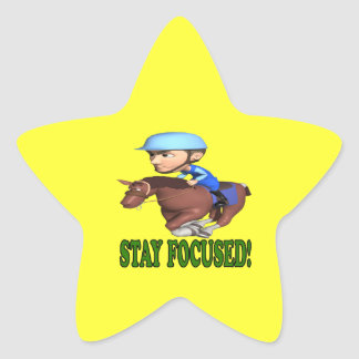 Stay Focused Star Sticker