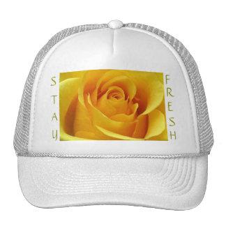"""Stay Fresh"" Yellow Rose Cap Trucker Hat"