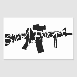 Stay Frosty Rectangular Sticker
