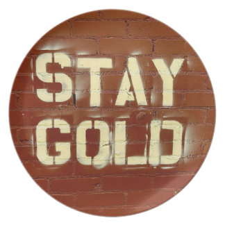 Stay Gold Plate