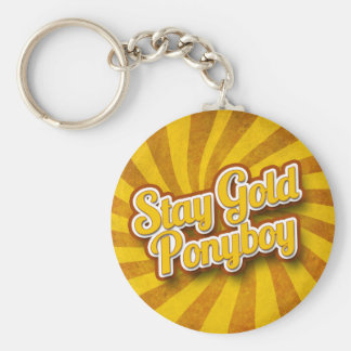 Stay Gold Ponyboy Keychain