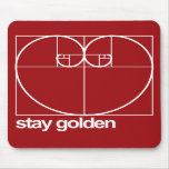 Stay Golden Mouse Pads